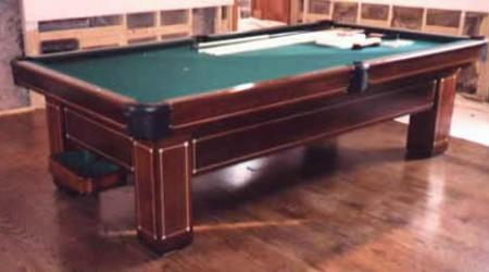 Restored image of The Monroe, antique pool table