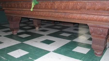 Antique B.A. Stevens Embossed billiards table