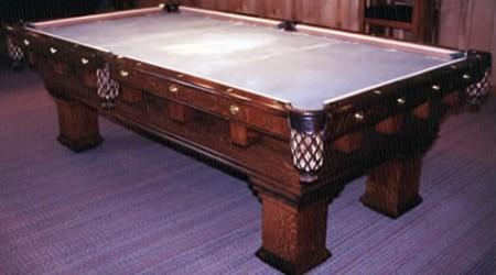 The Monterey Mission, fully restored antique billiards table