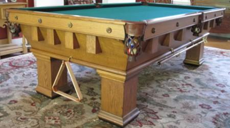 Antique pool table The Monterey Mission, fully restored