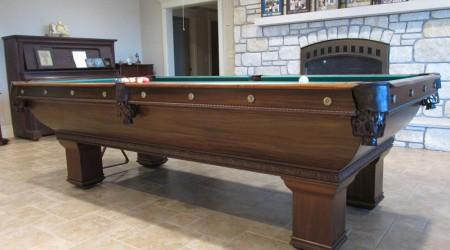 Antique restored The Newport billiards table