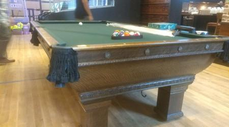 The Newport, a restored antique billiards table