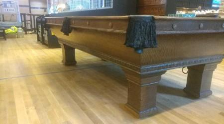 "Complete restoration of ""The Newport"" antique pool table"