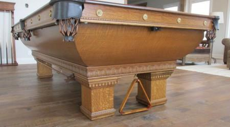 Complete restoration of Newport pool table