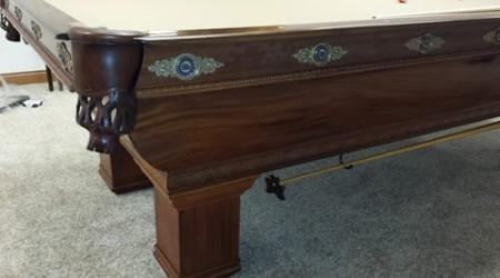 Antique billiard table, The Newport, after restoration
