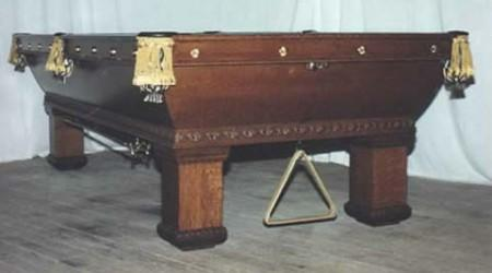 Orginal restored Newport antique pool table