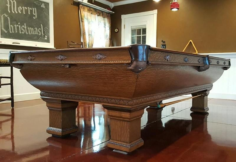 The Newport Antique Biliards Table For Sale