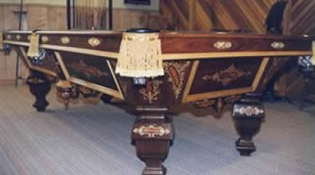 The Nonpareil Novelty, restored antique pool table for sale