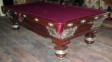 he Northern pool table after restoration