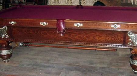 The Northern billiards table, antique pool table restored