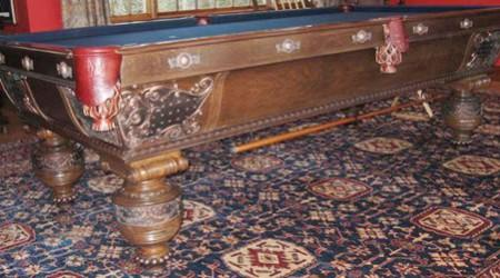 Billiards antique, The Northern, before restoration