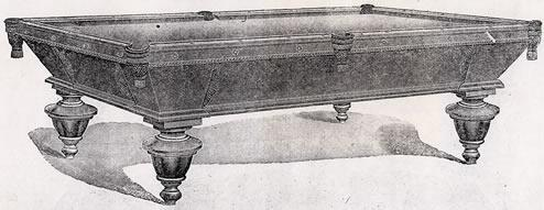 Brunswick-Balke-Collender Co. catalogue image: The Oak Paragon antique pool table