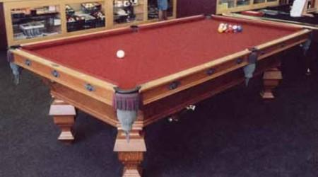 The OG Novelty, an antique billiards table fully restored