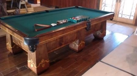 Professional billiards table restoration: The Paragon
