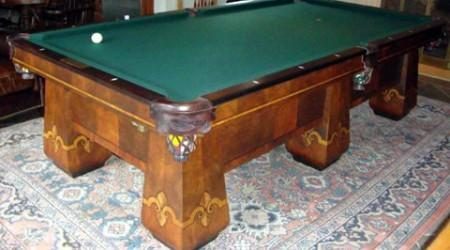 Restored Paragon billiards table