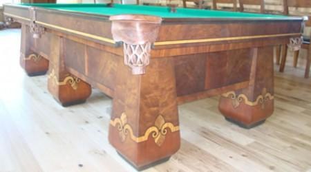 Billiard Restoration Service restored antique pool table - The Paragon