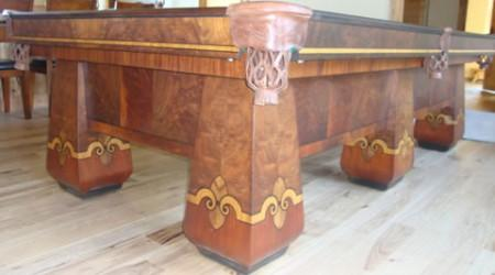 The Paragon, an antique billiard table restored by Billiard Restoration Service