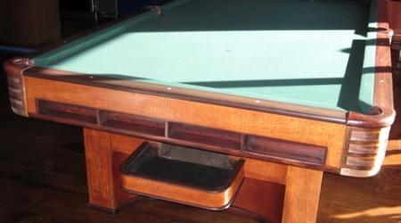 Fully restored antique, The Paramount billiards table