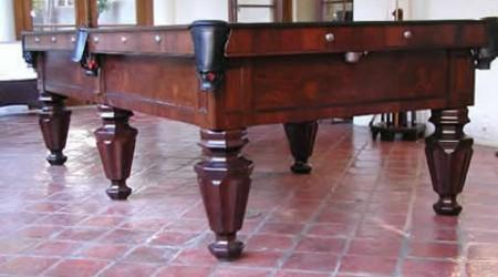 The Phelan & Collender, restored antique biliards table