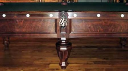 Beautifully restored antique Phelan & Collender billiards table