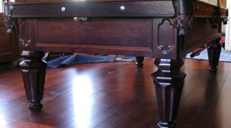 Fully restored antique billiards table, The Phelan Collender
