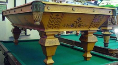 Restoration: The Popular, antique billiards table