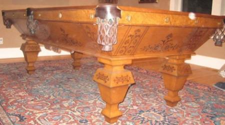 The Popular antique billiards table