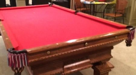 Complete restoration: Pride of Cleveland billiards table
