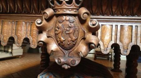 Carving details of The Bandes Monarch, restoration project by Billiard Restoration Service