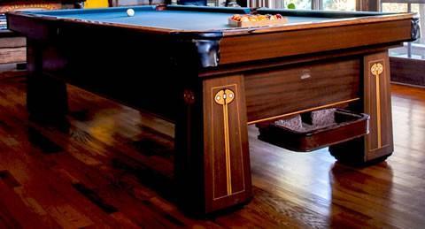the regina u2013 a beautifully restored antique brunswick billiards table