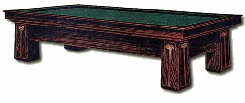 Orginal catalog image of The Regina, antique pool table by Brunswick