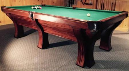 Antique restoration project: The Rochester billiards table