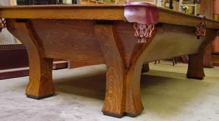 Rough table prior to refinishing Four Leg