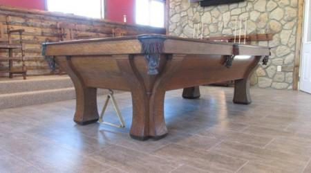 Restoration of an antique Rochester pool table