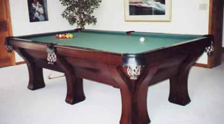 The Rochester six leg pool table restored