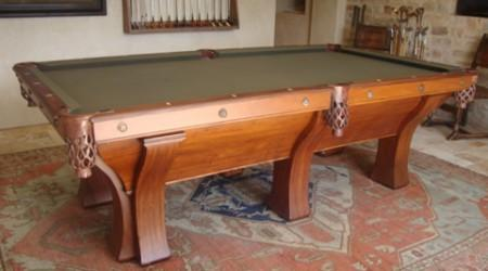 Restored Rochester billiards table
