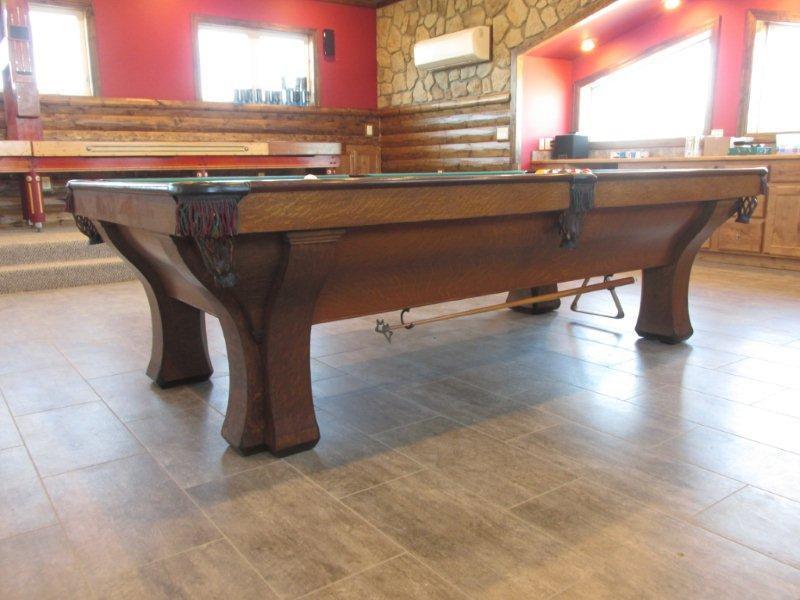 The Rochester Restored Antique Billiardpool Table - Brunswick brookstone pool table