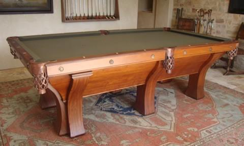The Rochester Restored Antique Billiardpool Table - Brunswick brookstone ii pool table