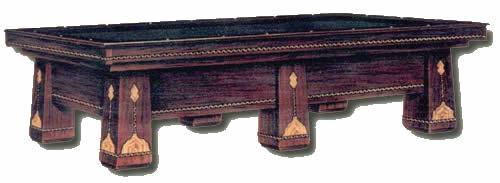 The Royal, antieque pool table's old catalogue image