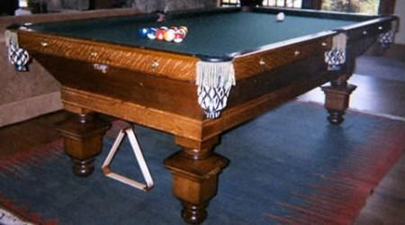 The Southern, antieque billiards table restored