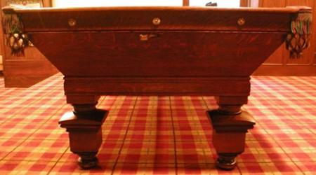 Antique, restored Southern billiards table
