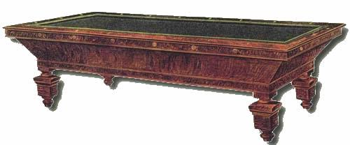 Orginal catalogue image of The Southern, antique pool table