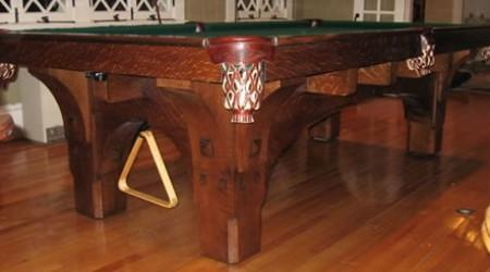 St. Bernard antique billiards table, fully restored