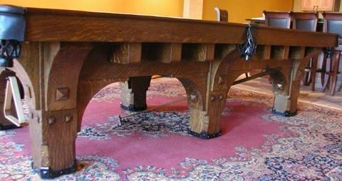 The St Bernard Mission Antique Brunswick Billiards Table