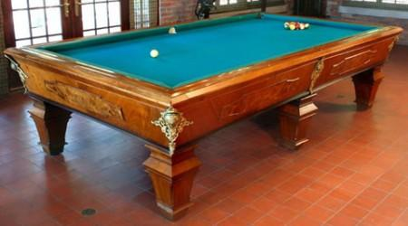 Restored antique billiards or pool table, The Strahan