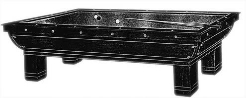 Original catalog image of The Sultana pool table