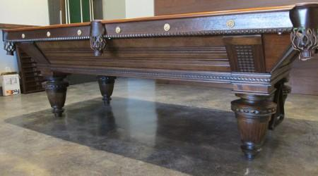 Professional restoration of Brunswick Improved Union League billiards