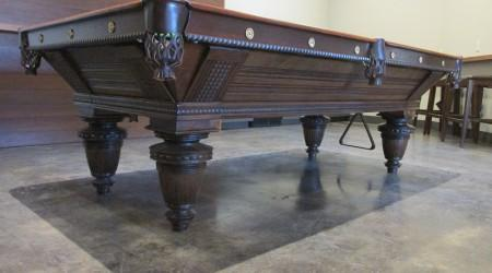 Restored Improved Union League pool table by Brunswick