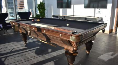 Fully restored Improved Union League billiards table