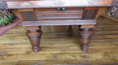 Improved Union League billiards table professional restoration